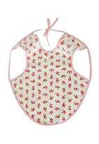 Home Grown Africa - Girls Bib with Rose Floral Print Pale Pink
