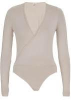 edit - Wrap Bodysuit Beige