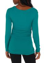 Me-a-mama - Boat-neck Top Green Light Green