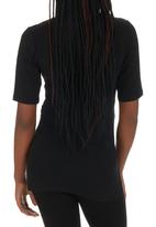 Me-a-mama - Cap Sleeve Wrap Top Black