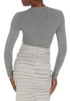 edit - Wrap Bodysuit Dark Grey  Dark Grey