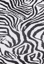 STYLE REPUBLIC - Printed pencil skirt Black/White