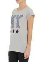 SASS - NY star t-shirt Pale Grey