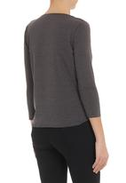 edit - Crossover blouse with neckpiece Dark Grey