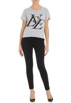 All About Eve - Forever Eve printed T-shirt Pale Grey
