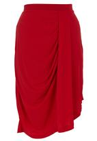 STYLE REPUBLIC - Draped Midi Skirt Red
