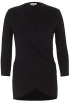 edit - Drape T-shirt Black