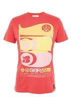 Crosshatch - 55 Blend T-shirt  Red