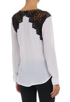 STYLE REPUBLIC - Crossover Lace Blouse White