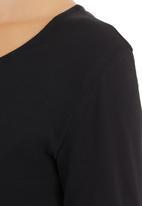 Suzanne Betro - Long-sleeve Crop Top Black Black