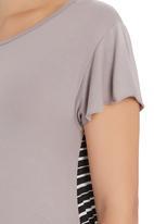 Astrid Ray - Chloe Striped T-shirt  Neutral