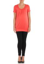 Cherry Melon - Pleat Top Red