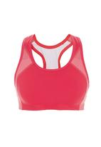 New Balance  - Fitted Sports Bra Coral