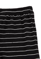 Phoebe & Floyd - Striped leggings with bow-detail Black/White
