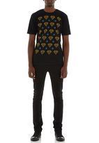 LUCKY FRIDAY - Diamonds T-shirt  Black