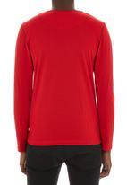 Fire Fox - Long sleeve stripe tee Red