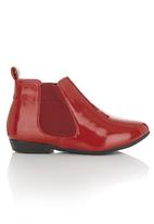 Foot Focus - Patent shoes Red