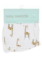 Aden & Anais - Swaddle cloth with giraffe print White