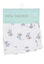 Aden & Anais - Swaddle cloth with monkey print White