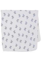 Aden & Anais - Baby blanket with monkey print White