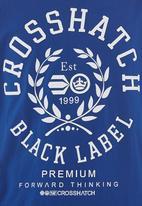 Crosshatch - Laygos tee Dark Blue