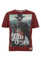 Scam - Dog Face Tee Red
