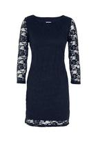 edit - Lace dress with scalloped edge Mid Blue