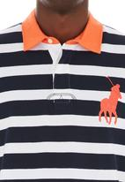 POLO - Nautical stripe golfer Navy