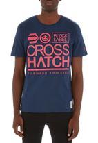 Crosshatch - Large go tee Navy