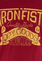 IRON FIST SA - Dry goods tee Red