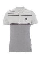Crosshatch - Stripe golfer Grey