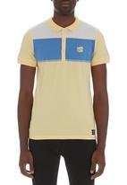 Crosshatch - Chunk stripe golfer Yellow