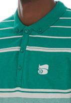 Crosshatch - Stripe golfer Green
