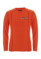 Fire Fox - Long-sleeve crew tee Orange