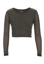 STYLE REPUBLIC - Metallic knit crop top Metallic