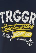 Trigger - Printed crew neck tee Navy
