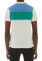 Crosshatch - Chunk stripe golfer Pale Grey