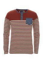 London Hub - Long-sleeve stripe tee Orange
