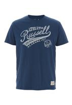 Russell Athletic - Printed Crew-neck Tee Blue