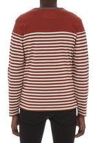 London Hub - Stripe T-shirt Mid Brown