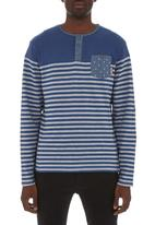London Hub - Stripe T-shirt  Navy