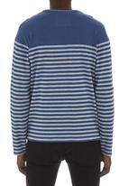 London Hub - Long-sleeve stripe tee Blue (dark blue)