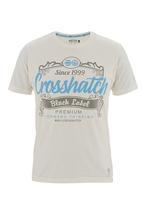 Crosshatch - Yaya tee Pale Grey