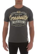 Crosshatch - Yaya tee Dark Grey