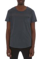 S.P.C.C. - Striped pocket tee Grey