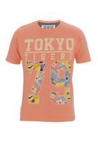 Tokyo Tigers - Manua T-shirt Coral