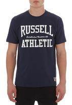 Russell Athletic - Arch logo crew neck tee Navy