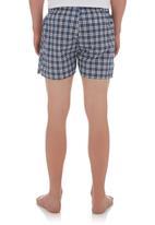 edge - Pyjama shorts Blue/White