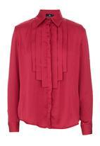 KARMA - Waterfall blouse Mid Pink