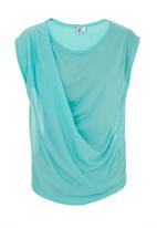 edit - Draped casual top Turquoise